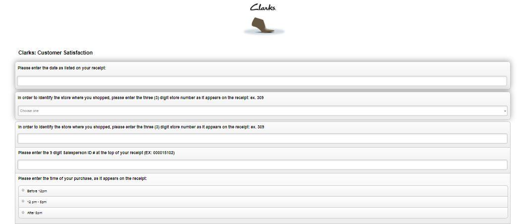 Clarks Customer Satisfaction Survey 1