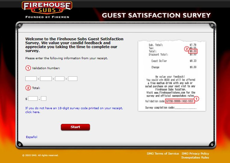 Firehouse Subs Guest Satisfaction Survey 1