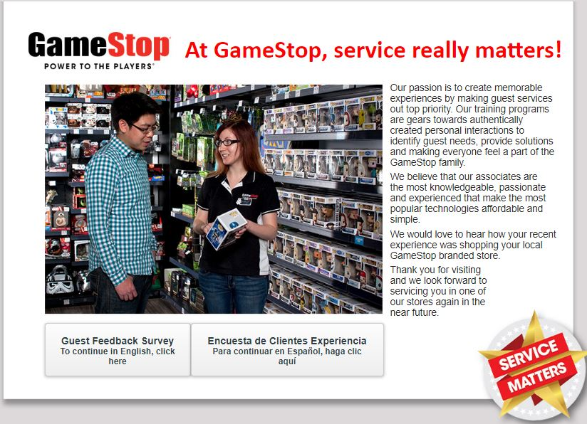 GameStop Survey