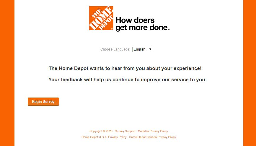 Home Depot Survey 1