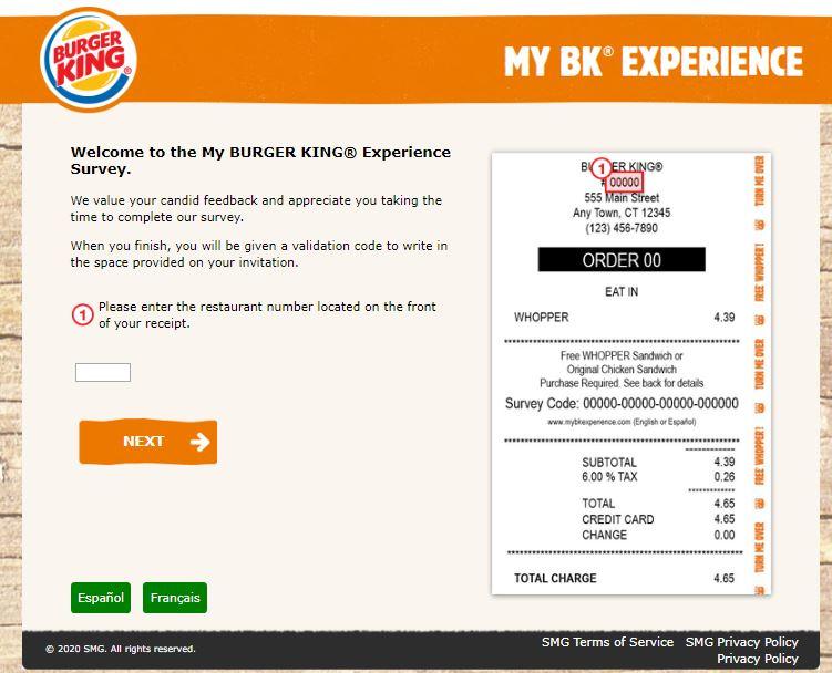 My BURGER KING Experience Survey
