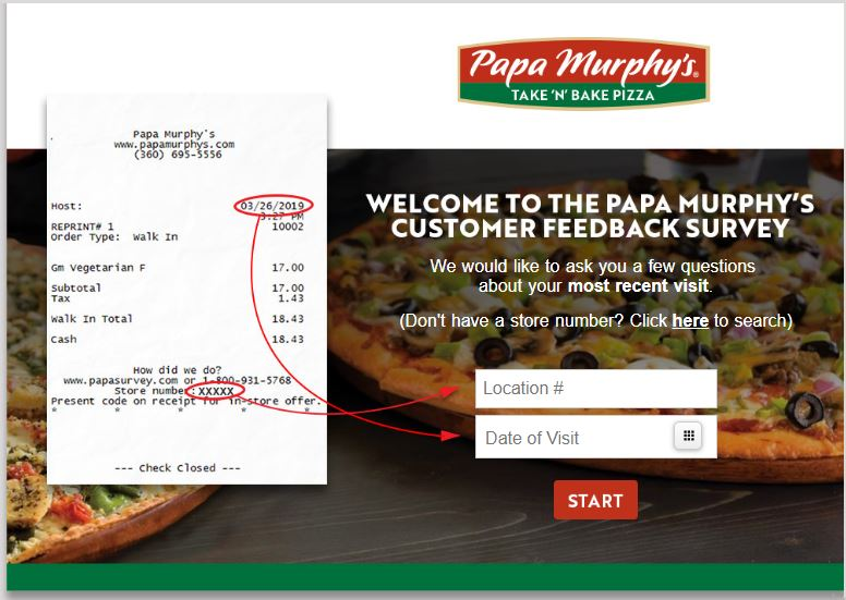 Papa Murphy's Survey 1