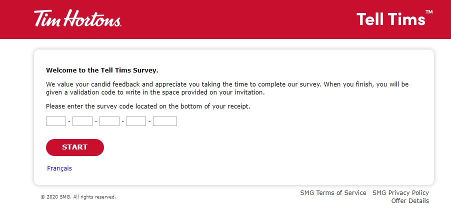 Tim Hortons Survey 1