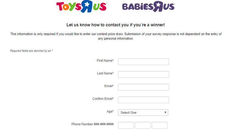 Toys R Us Survey