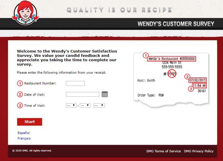 Wendy's Customer Satisfaction Survey