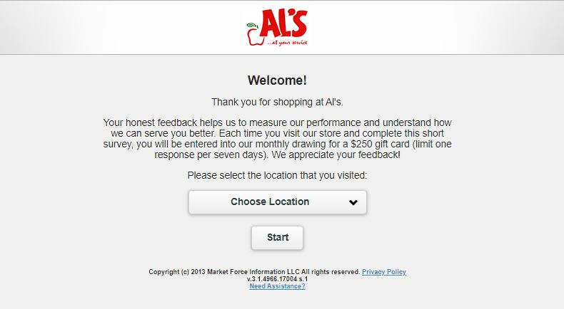 AL's Supermarket Survey 1