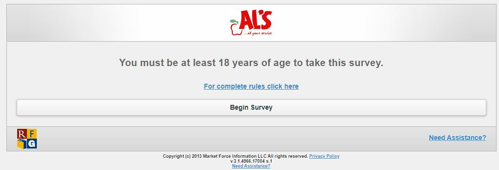 AL's Supermarket Survey 2