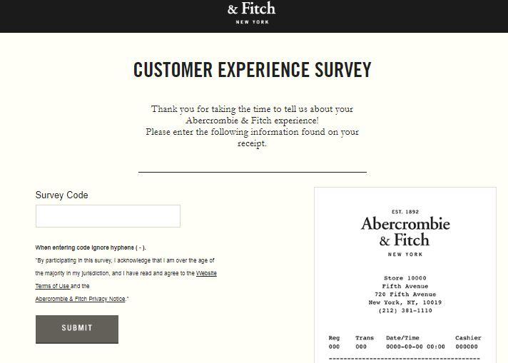 Abercrombie & Fitch Survey 2