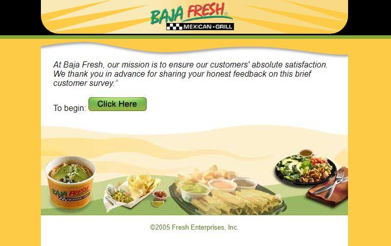 Baja Fresh Survey 1