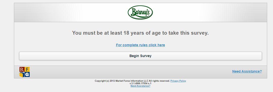 Barney's Survey