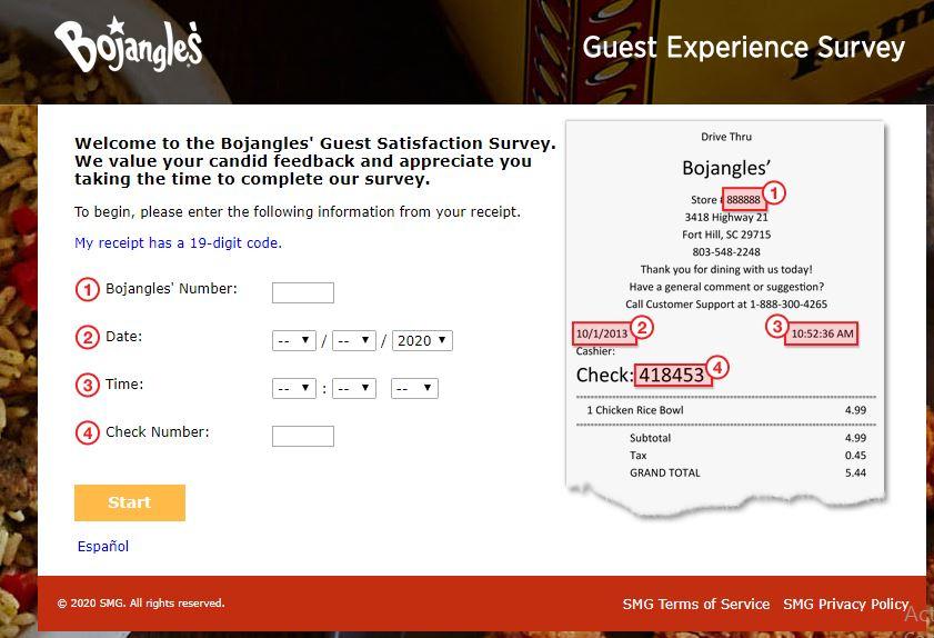 Bojangles Survey