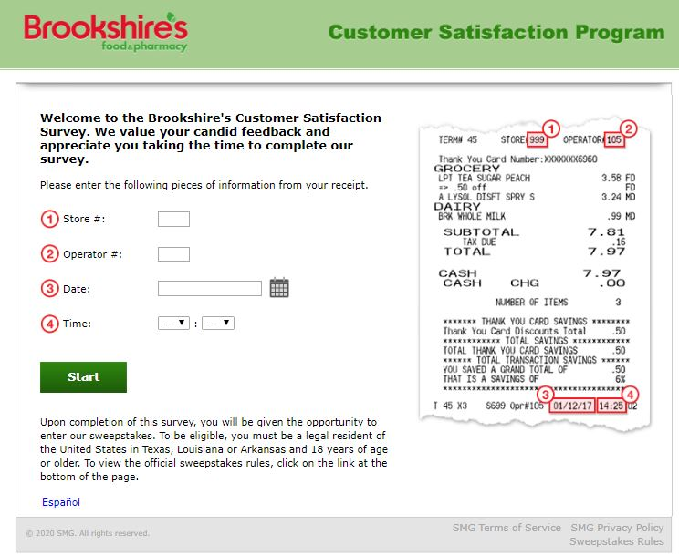 Brookshire's Feedback Survey