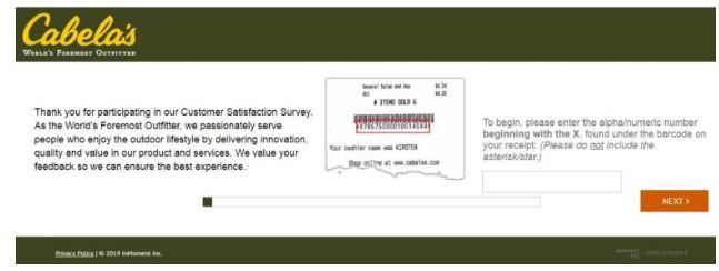 Cabelas Feedback Survey