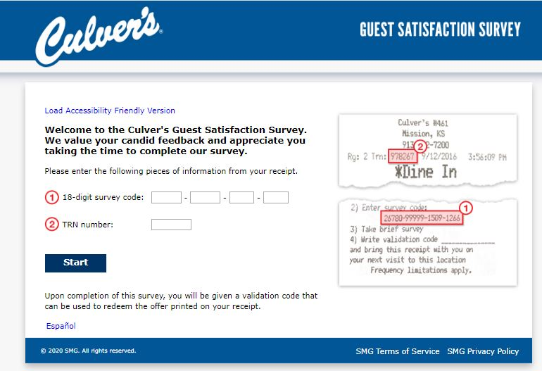 Culver's Customer Satisfaction Survey