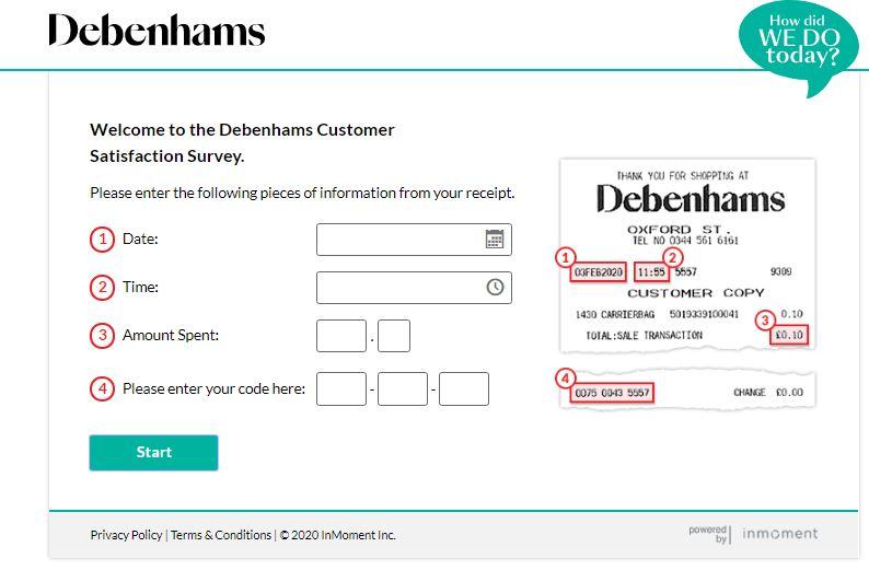 Debenhams Survey 2