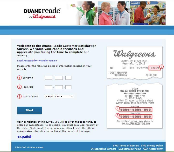 Duane Reade Survey
