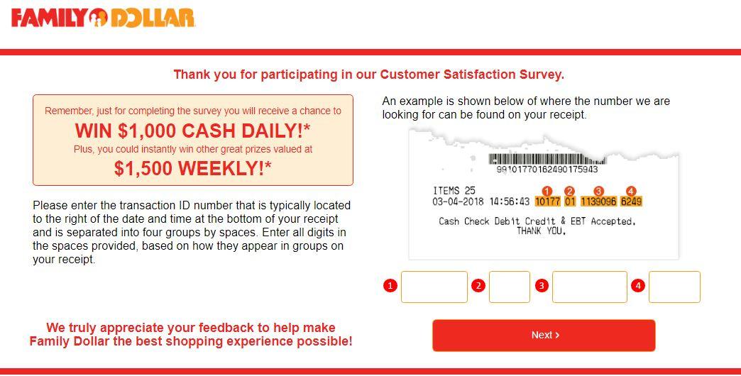 Family Dollar Survey 2