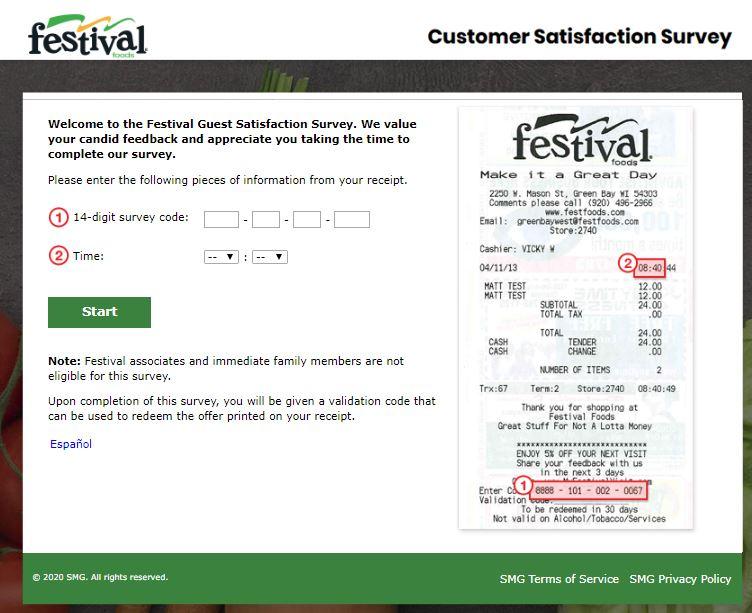 Festival Visit Survey