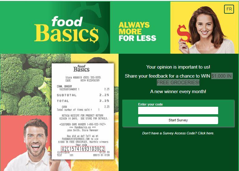 Food Basics Feedback Survey