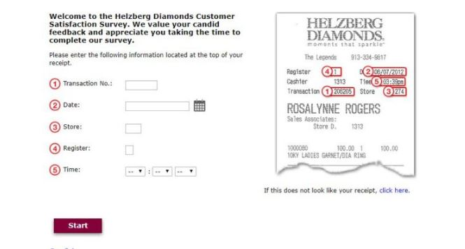 Helzberg Diamonds ffedback Survey