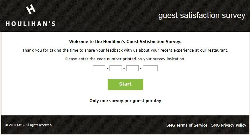 Houlihans Feedback Survey