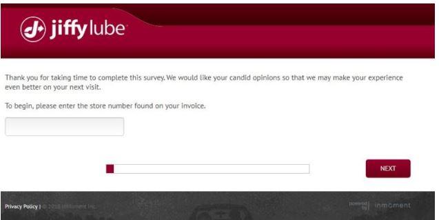 Jiffy Lube Feedback Survey