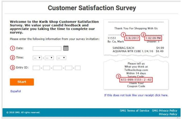 Kwik Shop Survey