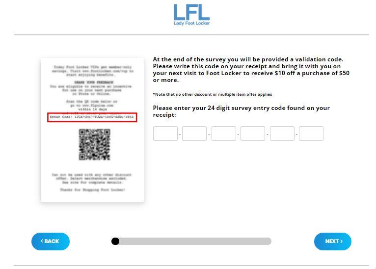 Lady Foot Locker Survey