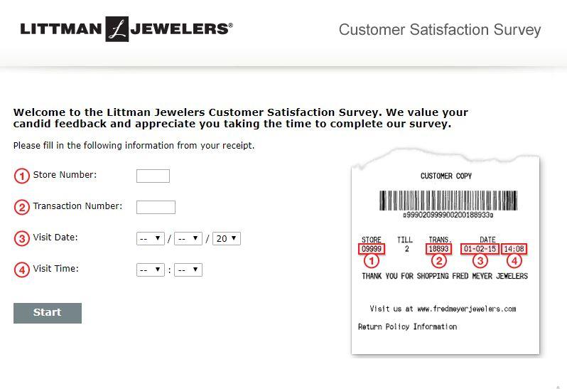 Littman Jewelers Feedback Survey 1