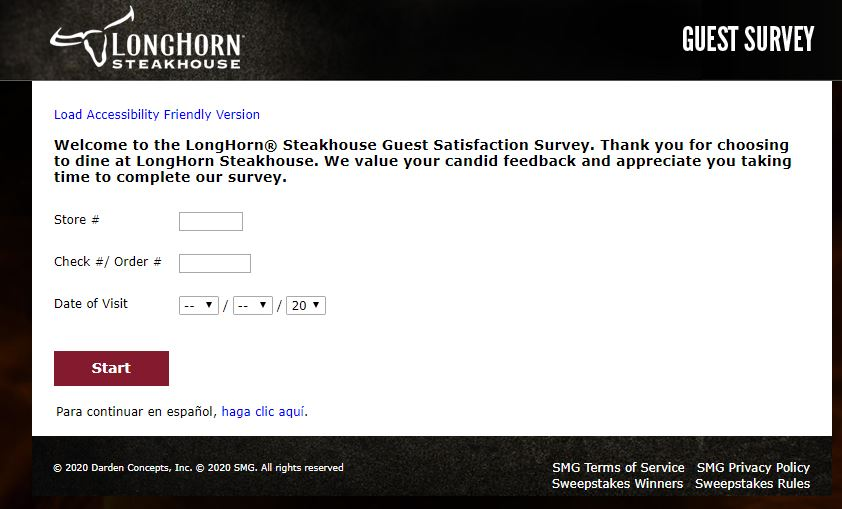 LongHorn Steakhouse Survey