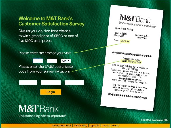 M&T Bank Survey