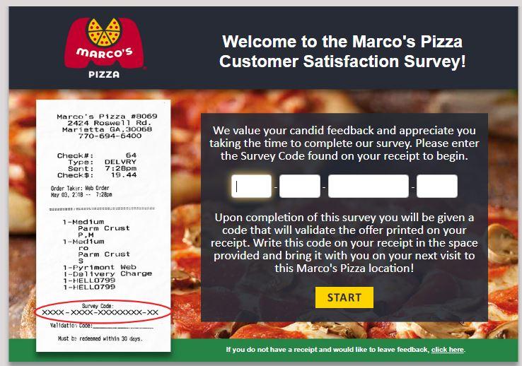 Marco's Pizza Survey