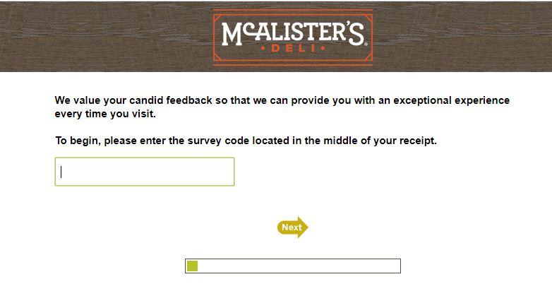 McAlister's Deli Survey