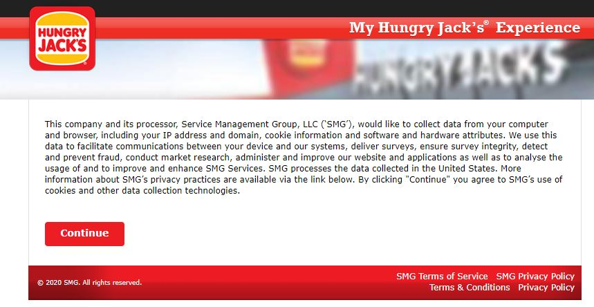My Hungry Jack's Experience Survey 1