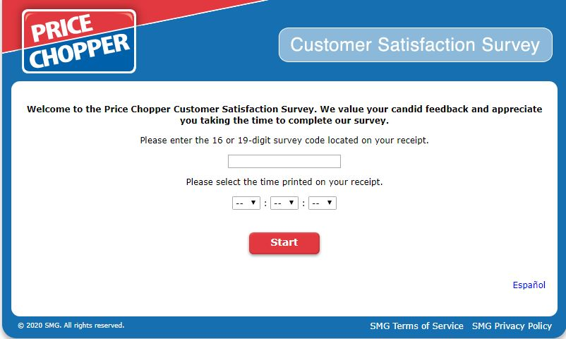 My Price Chopper Experience Survey