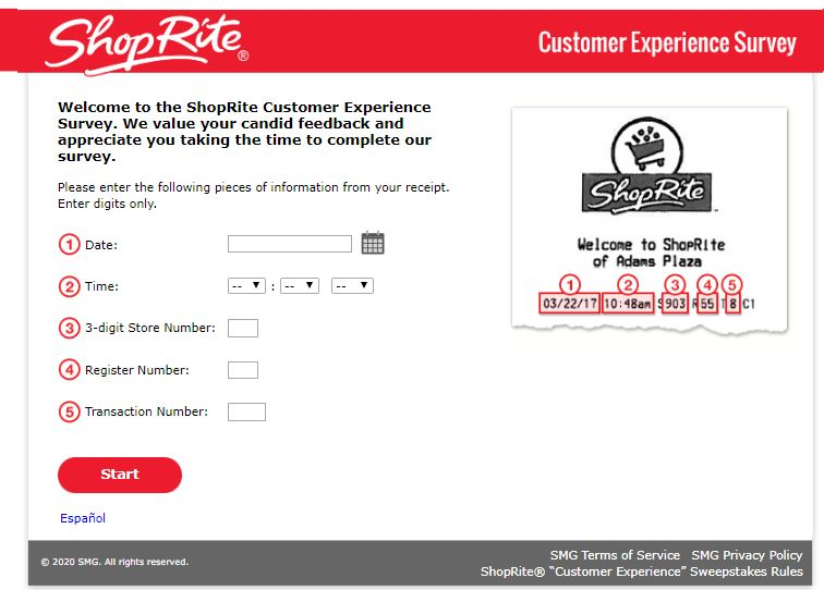 My ShopRite Experience Survey