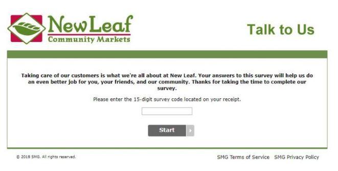 New Leaf Survey 1