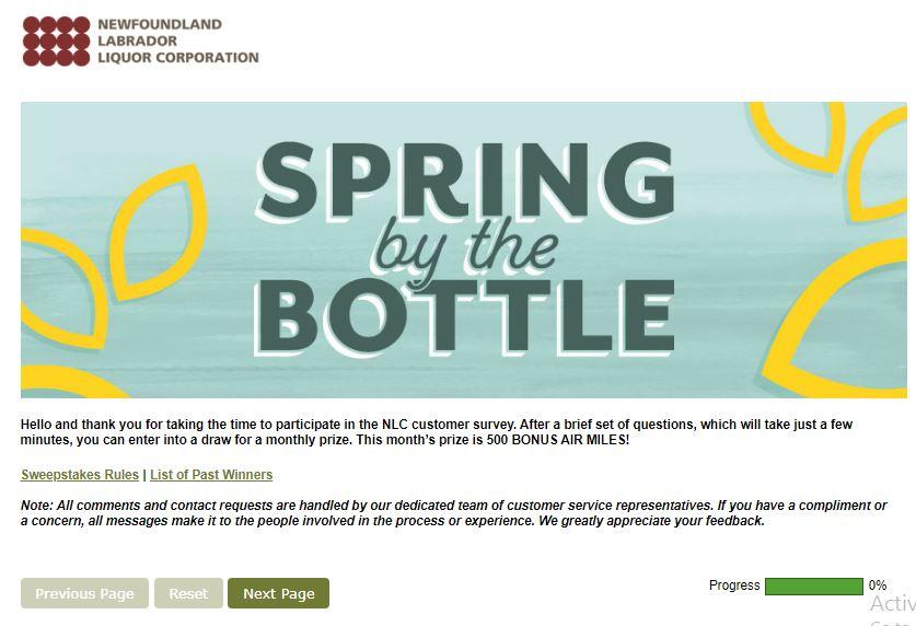Newfoundland Labrador Liquor Survey