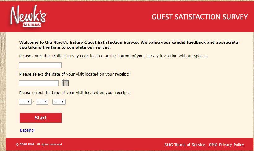 Newk's Eatery Survey