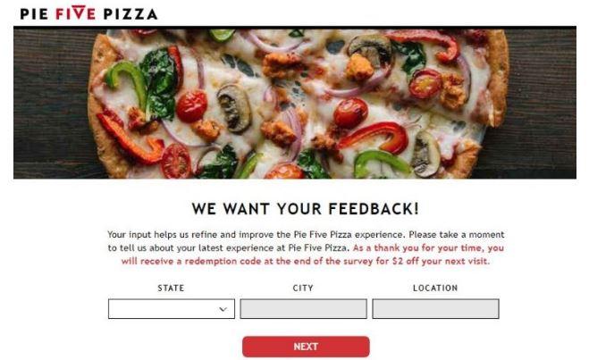Pie Five Pizza Survey