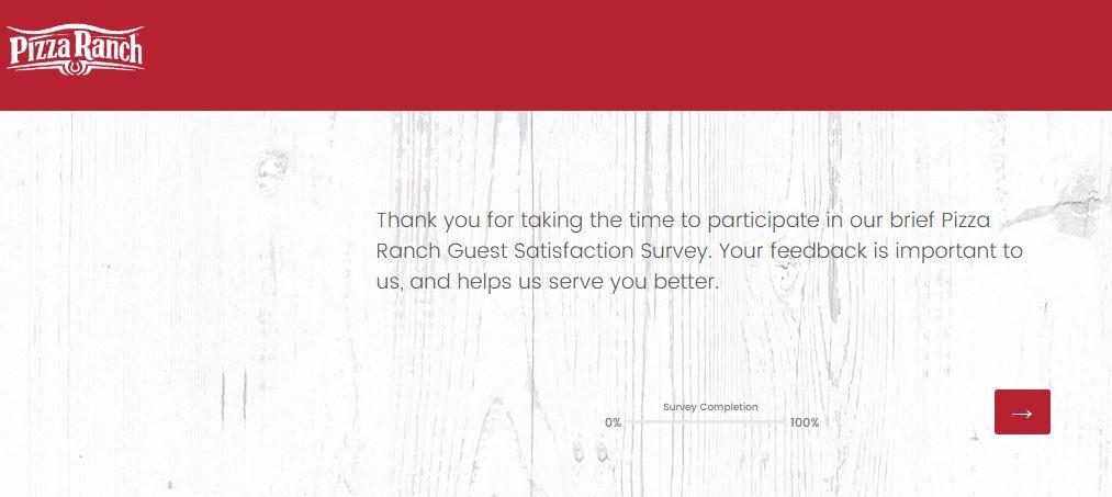 Pizza Ranch Feedback Survey 1