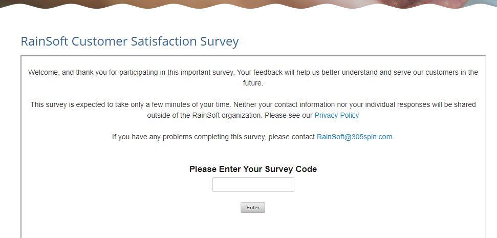 RainSoft Survey