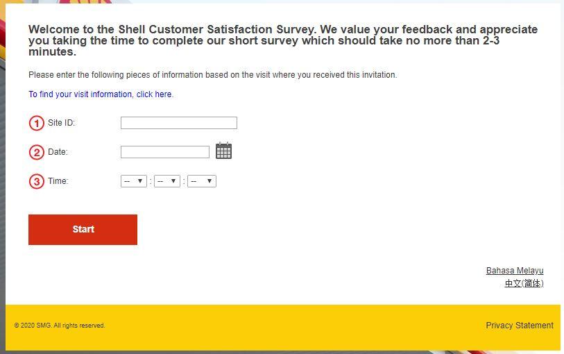 Shell Canada Customer Opinion Survey
