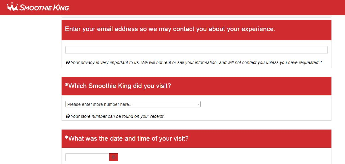 Smoothie King Feedback 1