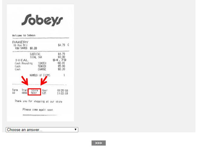 Sobeys Customer Satisfaction Survey 2