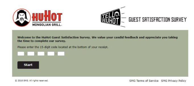Tell HuHot Survey