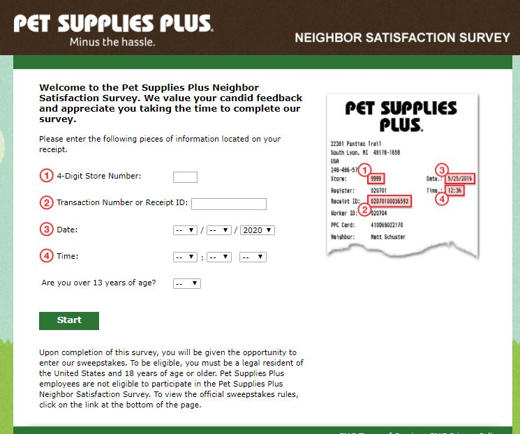 Tell Pet Supplies Plus Survey