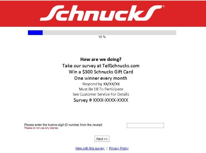 Tell Schnucks Survey 1