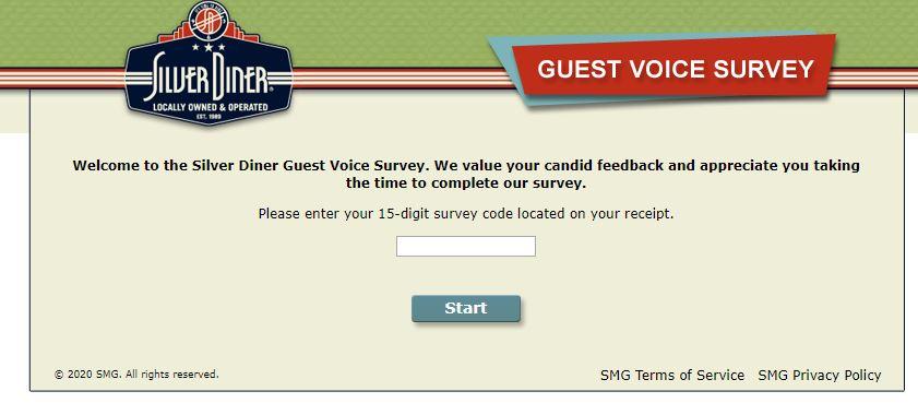 Tell Silver Diner Survey
