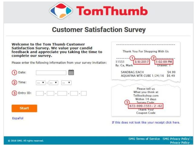 Tell TomThumb Survey